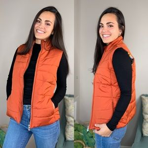 TWEEDS Orange Puffer Vest